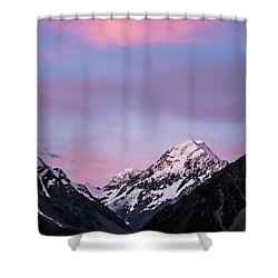 Mount Cook Sunset Shower Curtain