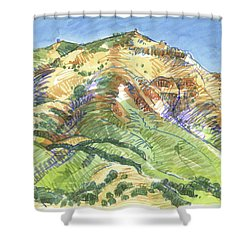 Mount Diablo From Curry Valley Ridge Shower Curtain