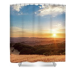 Mount Diablo Sunset Shower Curtain