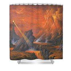 Mount Doom The Eye Of Sauron Shower Curtain by Joe  Gilronan