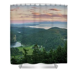 Mount Erie Viewpoint Shower Curtain by Ken Stanback