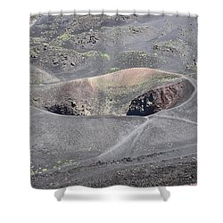 Mount Etna Caldera Shower Curtain