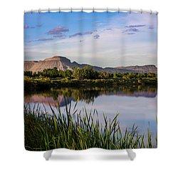 Mount Garfield In The Evening Light Shower Curtain