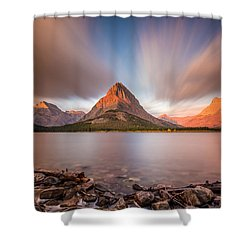 Mount Grinnell Sunrise Shower Curtain