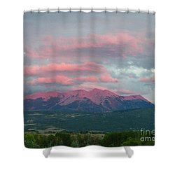 Mount Gunnison Sunset In Colorado Shower Curtain