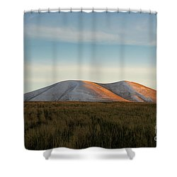 Mount Gutanasar In Front Of Wheat Field At Sunset, Armenia Shower Curtain