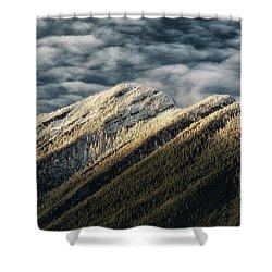 Mount Higgins Clouds Shower Curtain