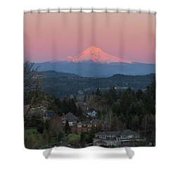 Mount Hood Over Happy Valley Oregon Shower Curtain