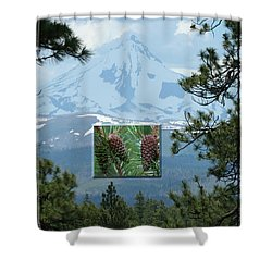 Mount Jefferson With Pines Shower Curtain