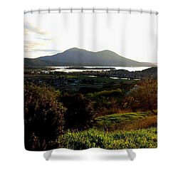 Mount Konocti Shower Curtain by Will Borden