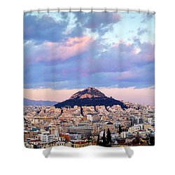 Mount Lycabettus Shower Curtain
