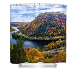 Shower Curtain featuring the photograph Mount Minsi by Mark Papke