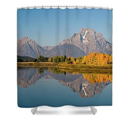 Shower Curtain featuring the photograph Mount Moran by Steve Stuller