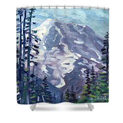 Mount Rainier From Sunrise Point Shower Curtain