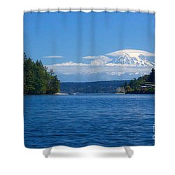 Mount Rainier Lenticular Shower Curtain
