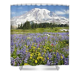 Mount Rainier National Park Shower Curtain by Craig Tuttle