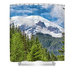 Shower Curtain featuring the photograph Mount Rainier View by Stephen Stookey