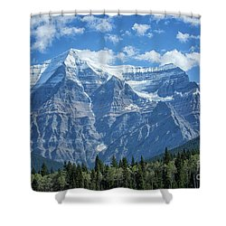 Mount Robson Shower Curtain by Patricia Hofmeester