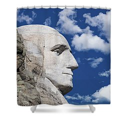 Mount Rushmore Profile Of George Washington Shower Curtain