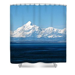 Mount Saint Elias. Yakutat Bay Seascapes Shower Curtain