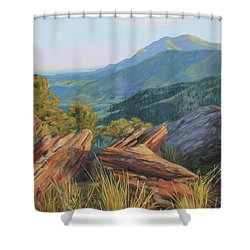 Mount Sanitas, Late Afternoon Shower Curtain