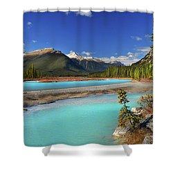 Shower Curtain featuring the photograph Mount Saskatchewan by John Poon