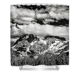 Shower Curtain featuring the photograph Mount Shuksan Under Clouds by Jon Glaser