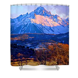 Mount Sneffels  Shower Curtain by Annie Gibbons