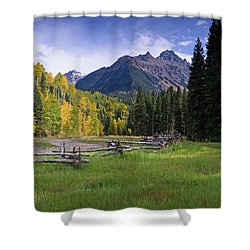 Mount Sneffels In Autumnn Shower Curtain