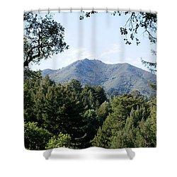 Mount Tamalpais From King Street 2 Shower Curtain by Ben Upham III