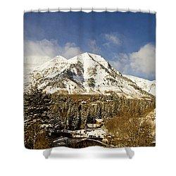 Mount Timpanogos Shower Curtain by Scott Pellegrin