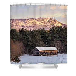Mount Tom View From Southampton Shower Curtain