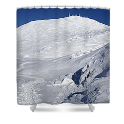 Mount Washington - White Mountain New Hampshire Usa Winter Shower Curtain
