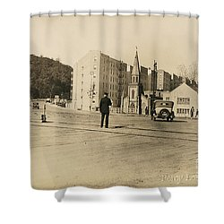 Shower Curtain featuring the photograph Mount Washington Church  by Cole Thompson