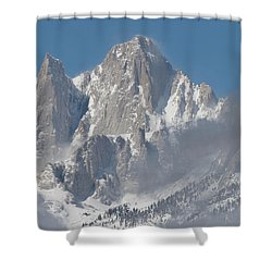 Mount Whitney In March Shower Curtain