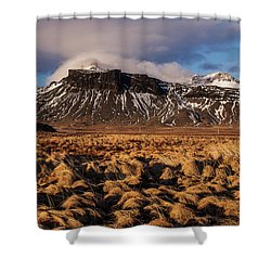 Mountain And Land, Iceland Shower Curtain