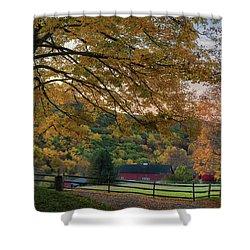 Mountain Barn Shower Curtain by Bill Wakeley