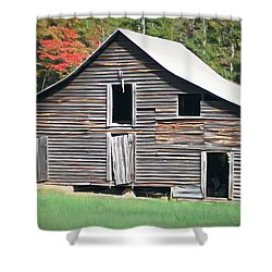 Shower Curtain featuring the photograph Mountain Barn by Marion Johnson