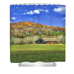 Mountain Barn Shower Curtain