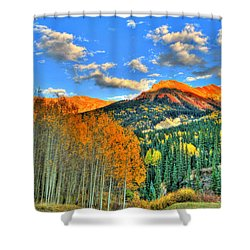 Mountain Beauty Of Fall Shower Curtain by Scott Mahon