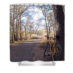 Mountain Bike Trail Shower Curtain