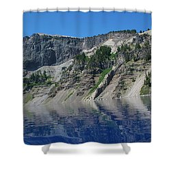 Shower Curtain featuring the photograph Mountain Blue by Laddie Halupa