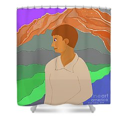 Mountain Boy Shower Curtain by Fred Jinkins