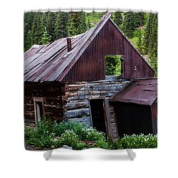 Mountain Cabin Shower Curtain by Jay Stockhaus