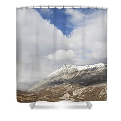 Mountain Clouds And Sun Shower Curtain by Michele Cornelius