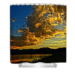 Mountain Colour Shower Curtain by Eric Dee