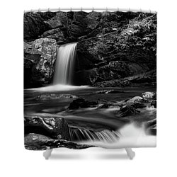 Mountain Creek In Black And White Shower Curtain
