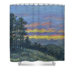 Mountain Dusk Shower Curtain