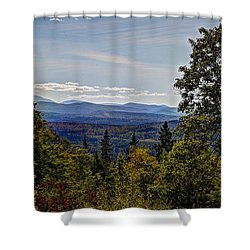 Mountain Edge Shower Curtain by Deborah Klubertanz