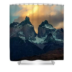 Mountain Evening Shower Curtain by Andrew Matwijec